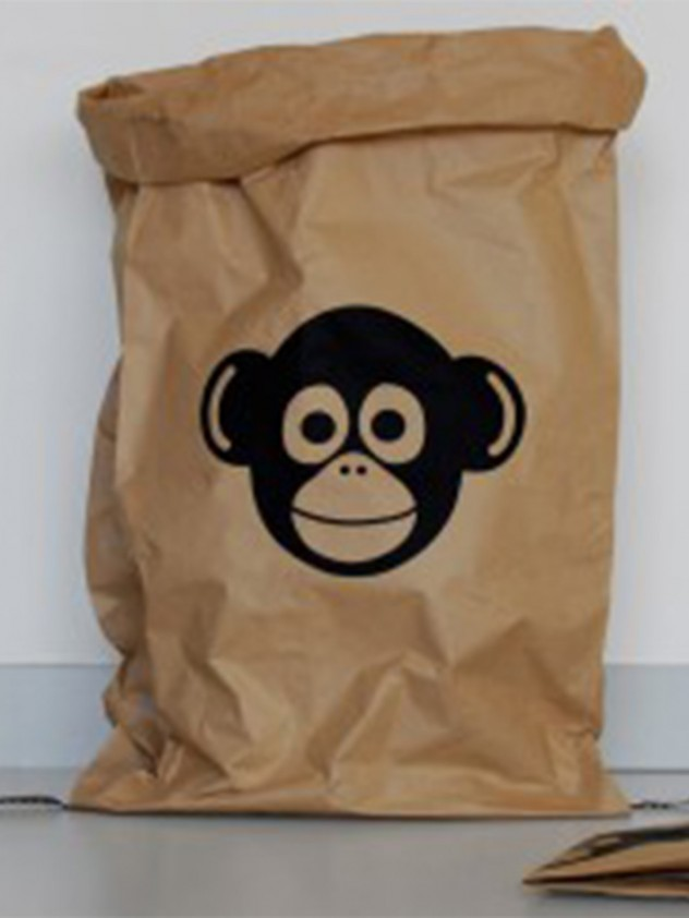 Gezinnig paper bag monkey