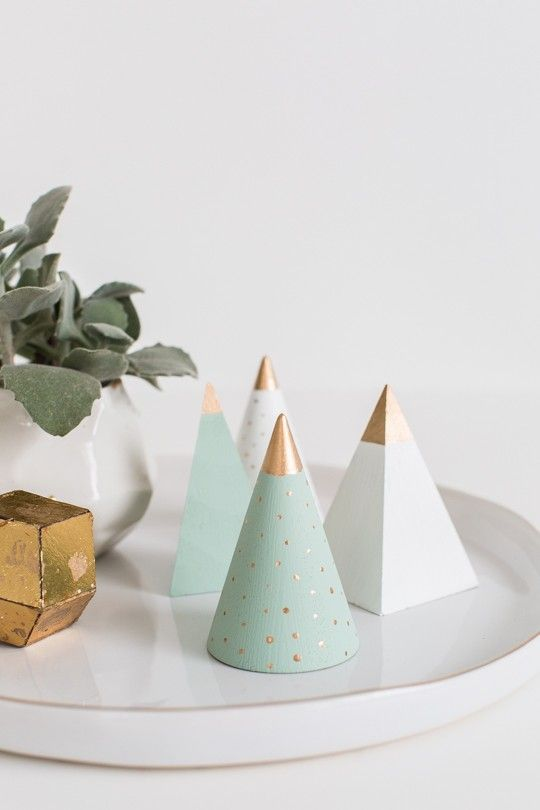 Mini wooden trees