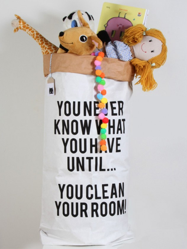 Zizoliving clean your room bag
